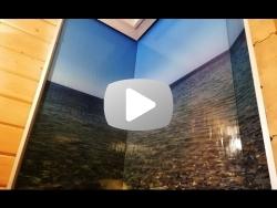 Угловой водопад по стеклу Чёрное море