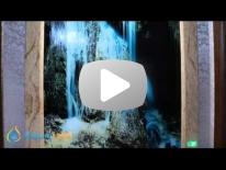 Умный водопад по стеклу с фотопечатью