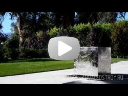 Водопад зеркальный куб