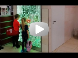 Пузырьковая панель в спортивном центре